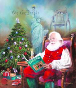 Gift of Freedom Christmas Jigsaw Puzzle