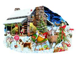 Santa's Rest Stop - Scratch and Dent Snow Jigsaw Puzzle