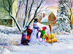 Snowman and Friends Snow Jigsaw Puzzle