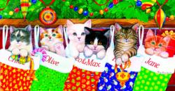 Stocking Kittens Kittens Jigsaw Puzzle