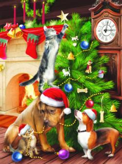 Tree Trimmers - Scratch and Dent Kittens Jigsaw Puzzle
