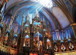 Notre Dame Basilica of Montreal Churches Jigsaw Puzzle