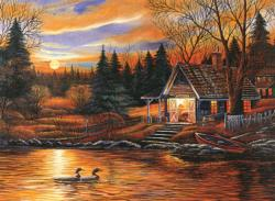Romantic Scenery Lakes / Rivers / Streams Jigsaw Puzzle