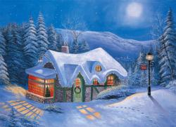 Silent Night Snow Jigsaw Puzzle