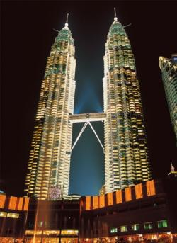 Twin Towers, Malaysia Asia Jigsaw Puzzle