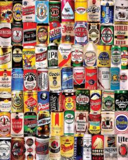 Beer Cans Collage Jigsaw Puzzle