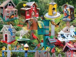 Birdhouse Village Collage Jigsaw Puzzle