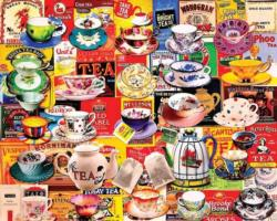 Tea Please Collage Jigsaw Puzzle