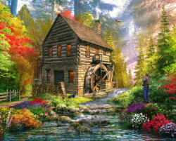 Mill Cottage Lakes / Rivers / Streams Jigsaw Puzzle