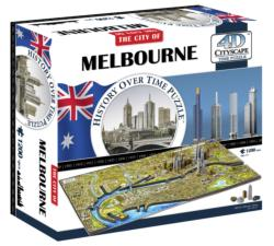 Melbourne, Australia Cities 4D Puzzle