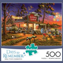Small town Celebration Patriotic Jigsaw Puzzle
