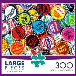 Soda Bottle Caps Collage Jigsaw Puzzle