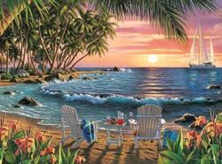 Summertime Sunrise/Sunset Jigsaw Puzzle