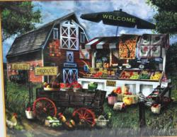 Fresh Produce Stand Shopping Jigsaw Puzzle