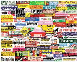 Bumper Stickers Collage Jigsaw Puzzle