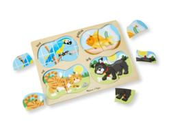 4-in-1 Peg Puzzle - Pets Fish Wooden Puzzle
