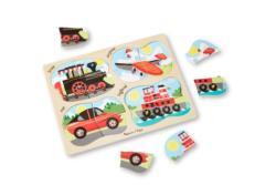 4-in-1 Peg Puzzle - Vehicles Vehicles Wooden Puzzle
