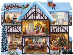 Christmas Eve Domestic Scene Jigsaw Puzzle