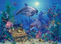 Dolphin Treasure Dolphins Children's Puzzles