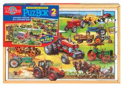 American Tractors (PuzBox) Farm Wooden Jigsaw Puzzle