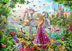 Unicorn Princess Unicorns Jigsaw Puzzle