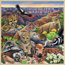 Grand Canyon Wildlife Animals Tray Puzzle