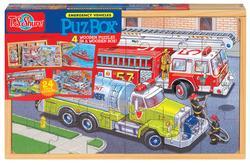 Emergency Vehicles (PuzBox) Vehicles Children's Puzzles