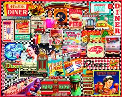 Diners Collage Nostalgic / Retro Jigsaw Puzzle