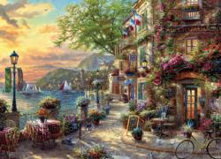 French Riviera Café France Jigsaw Puzzle