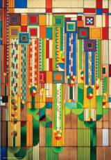 Frank Lloyd Wright: Saguaro Glass Design Abstract Jigsaw Puzzle