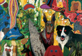 Country Dog Gentlemen Contemporary & Modern Art Jigsaw Puzzle
