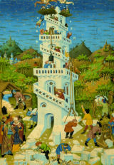 The Bedford Hours:  The Tower of Babel Religious Jigsaw Puzzle