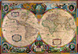 Antique World Map, 1630 Maps Jigsaw Puzzle