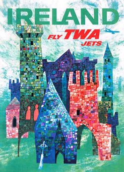 Explore Ireland (TWA Travel Posters) - Scratch and Dent Ireland Jigsaw Puzzle
