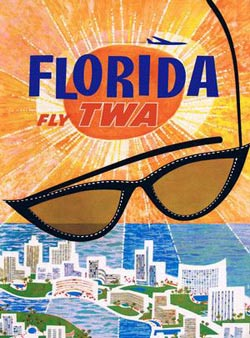 Fly to Florida (TWA Travel Posters) Nostalgic / Retro Jigsaw Puzzle