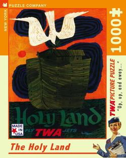 The Holy Land (TWA Travel Posters) Nostalgic / Retro Jigsaw Puzzle