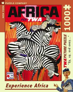 Experience Africa (TWA Travel Posters) Zebras Jigsaw Puzzle