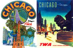 The Windy City (TWA Travel Posters ) Cities Jigsaw Puzzle