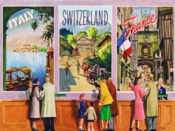 European Vacation (TWA Travel Posters) Nostalgic / Retro Jigsaw Puzzle
