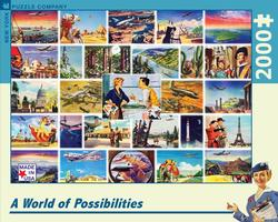 A world of Possibilities (TWA Travel Posters ) - Scratch and Dent Nostalgic / Retro Jigsaw Puzzle