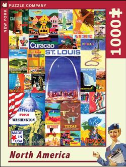 North America (TWA Travel Posters) Travel Jigsaw Puzzle