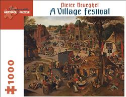 A Village Festival - Scratch and Dent People Jigsaw Puzzle