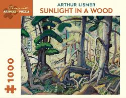 Sunlight In A Wood Forest Jigsaw Puzzle