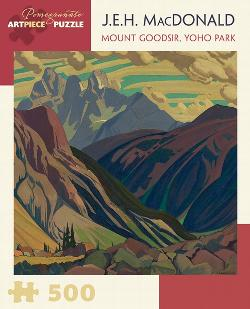 Mount Goodsir, Yoho Park Contemporary & Modern Art Jigsaw Puzzle