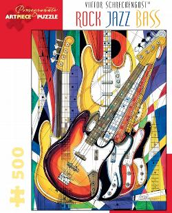 Rock Jazz Bass Contemporary & Modern Art Jigsaw Puzzle