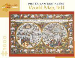 World Map, 1611 Geography Jigsaw Puzzle