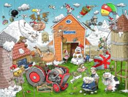 Christmas at Chaos Farm - Scratch and Dent Christmas Jigsaw Puzzle