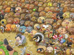 Christmas chaos at Turkey Farm Cartoons Jigsaw Puzzle