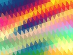 Geometric Rainbow Abstract Impossible Puzzle