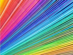 Paper Rainbow Abstract Impossible Puzzle